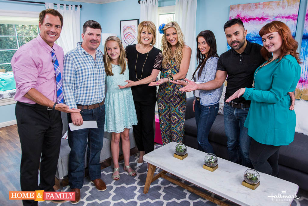 Behind the scenes, home & family, Hallmark channel, makeover segment