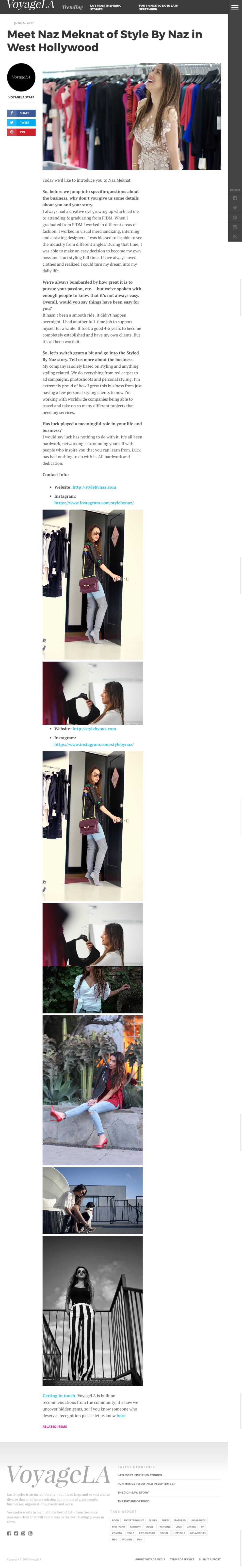 VoyageLA: Meet Naz Meknat of Style By Naz in West Hollywood