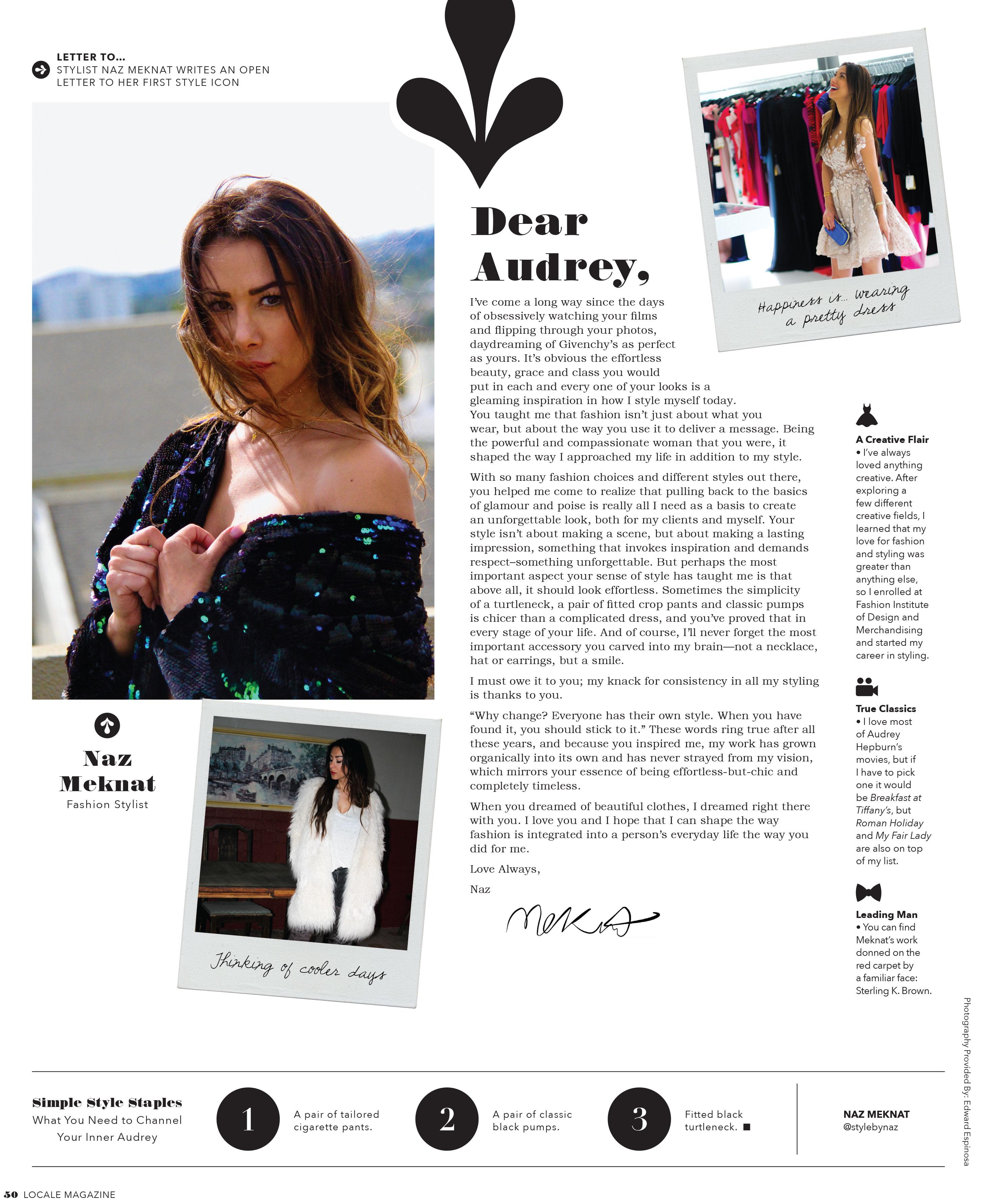 LOCALE Magazine, page 52 featuring Naz Meknat
