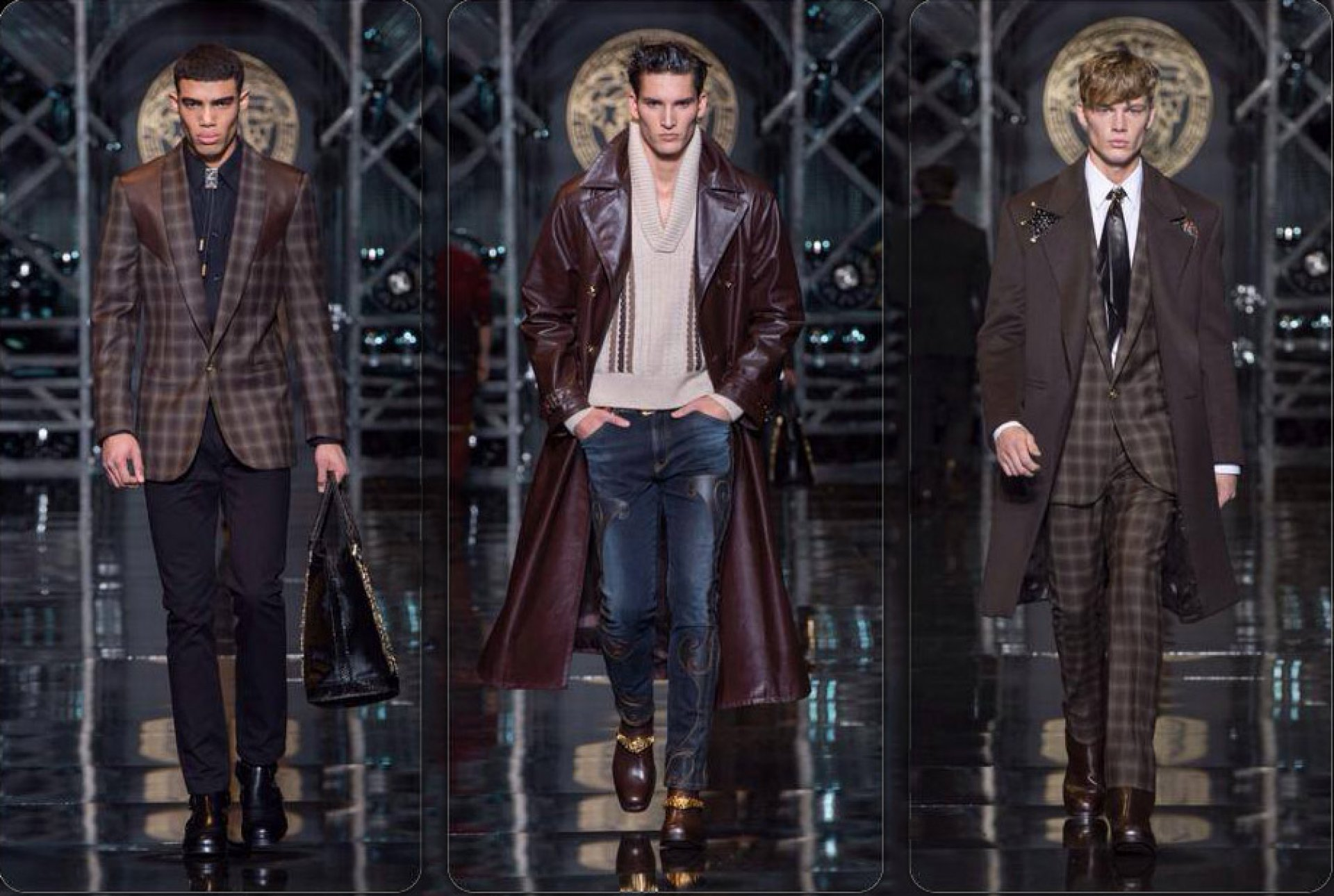 mens fashion, menswear, designer, versace, fall 2014
