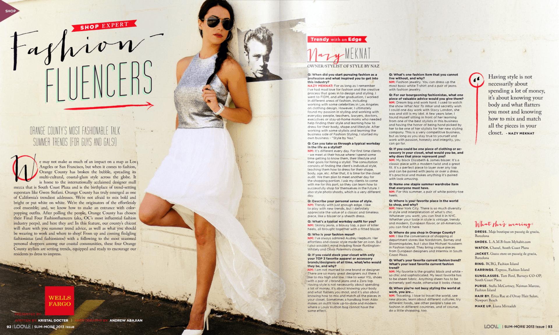 Naz interviewed in Locale Magazine